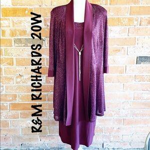 ▪️R&M RICHARDS▪️Formal Burgundy Dress 20W EUC